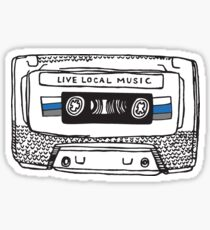 Live Local Music Sticker