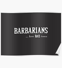 Barbarians, got to love 'em... Poster