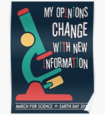 My Opinions Change with New Information: March for Science 2017 Poster