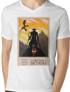 Dovahkiin, Dragonborn Mens V-Neck T-Shirt