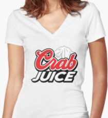 Crab Juice Light Women's Fitted V-Neck T-Shirt