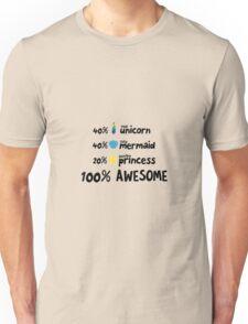 Unicorn mermaid and princess Ra3ds Unisex T-Shirt