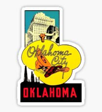 Oklahoma City Vintage Travel Decal Sticker