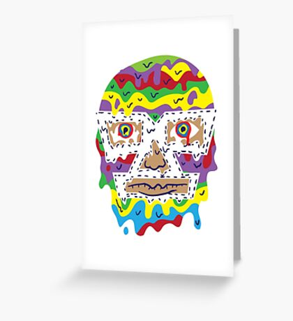 Trippy luchadore Greeting Card