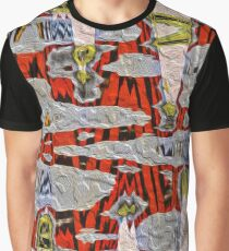 Tiger Stripe Abstract Artwork Graphic T-Shirt