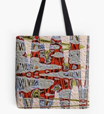 Tiger Stripe Abstract Artwork Tote Bag