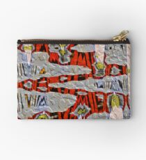 Tiger Stripe Abstract Artwork Studio Pouch