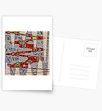 Tiger Stripe Abstract Artwork Postcards