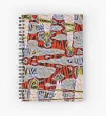 Tiger Stripe Abstract Artwork Spiral Notebook