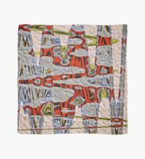 Tiger Stripe Abstract Artwork Scarf