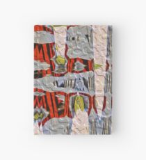 Tiger Stripe Abstract Artwork Hardcover Journal