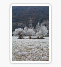 Snowy Slovenian Trees Sticker
