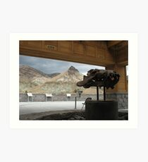 fossil bed Art Print