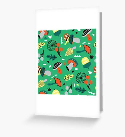abstract mushroom  Greeting Card