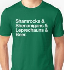 Saint Patrick's Day Words Unisex T-Shirt