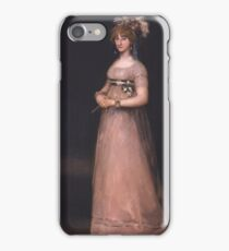 Francisco Goya - Portrait Of The Countess Of Chinchon Around 1800 iPhone Case/Skin