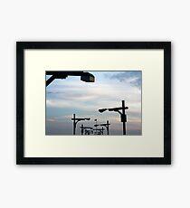 light inline Framed Print