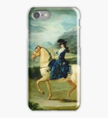 Francisco Goya - Portrait Of Maria Teresa De Vallabriga On Horseback iPhone Case/Skin