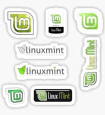 linux mint sticker set Sticker