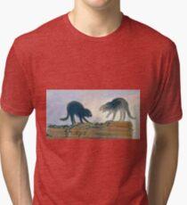 Francisco Goya - Fighting Cats - Rina De Gatos Tri-blend T-Shirt