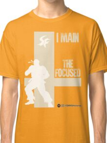 The Focused (White) Classic T-Shirt