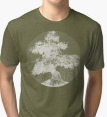 Spiral Bonsai Tree Tri-blend T-Shirt
