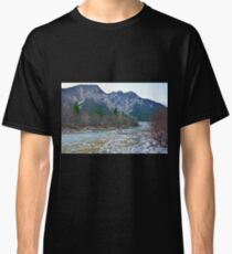Winter Landscape Near Tolmezzo Classic T-Shirt