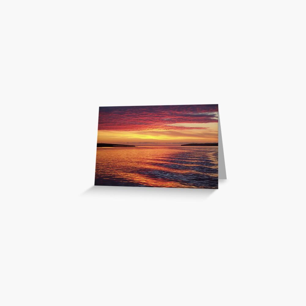 Eynhallow Sunset Greeting Card