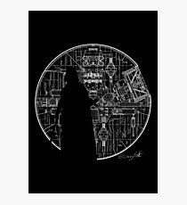 Darth Vader Death Star  Photographic Print
