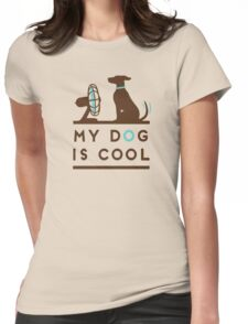 Tshirt Dog Cool funny Pet Womens Fitted T-Shirt