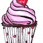 Pink Cupcake  by Elekairi