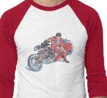 Akira by Katsuhiro Otomo Watercolor Tribute to Kaneda Men's Baseball ¾ T-Shirt