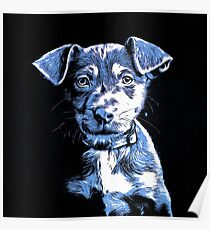 Puppy Dog Graphic Novel Drawing Poster