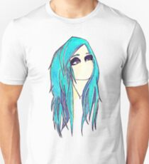 Blue Hair Emo Girl  Unisex T-Shirt