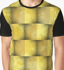 Yellowisw cubes over stains Graphic T-Shirt
