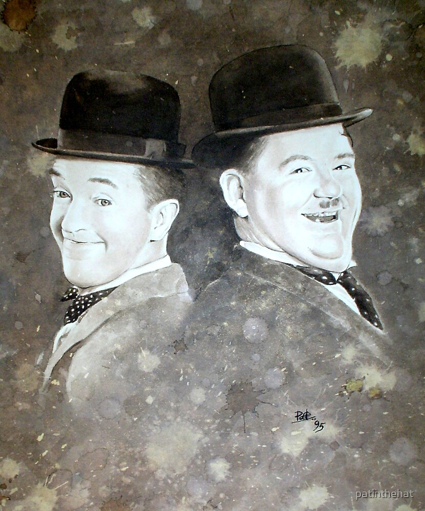 Laurel and Hardy by patinthehat