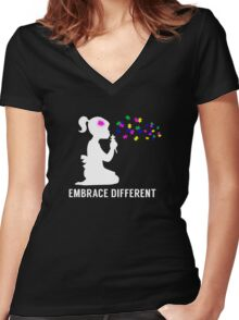 Autism Awareness Women's Fitted V-Neck T-Shirt