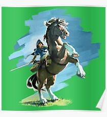 Link and Epona Breath of the Wild Poster