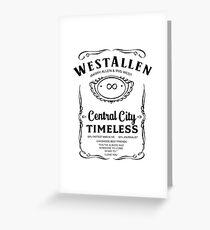WestAllen (Black on White) Greeting Card
