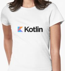 Kotlin programming language logo Womens Fitted T-Shirt