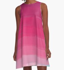 Lipstick: Shades of Pink Gradient Colors  A-Line Dress