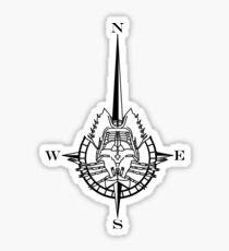 Horseshoe Compass Sticker