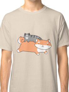 Blue Tabby and Shiba Classic T-Shirt