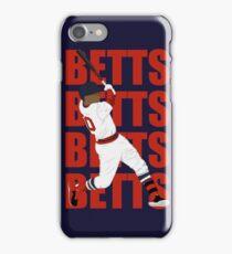 Mookie Betts Swing Art iPhone Case/Skin