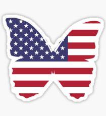 USA butterfly flag Sticker