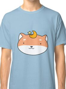 Star and Moon Shiba Face Classic T-Shirt