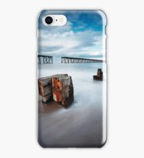 Abandoned Piers, Hartlepool iPhone Case/Skin
