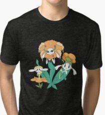 Pokemon Flabebe, Floette, & Florges (Orange Flower) Tri-blend T-Shirt