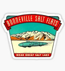 Bonneville Salt Flats Utah Vintage Travel Decal Sticker
