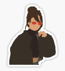 Selena Red Sunglasses Sticker